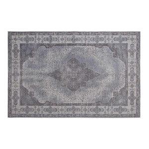 Retro Vintage Chenille Rug, Ash Grey, 160x240 cm