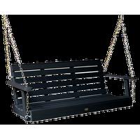 Weatherly Porch Swing, Black, 5'