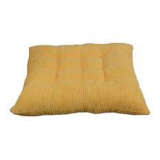 Indoor,Outdoor Soft Home,Office Squared Corduroy Seat Cushion, Yellow