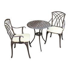 Charles Bentley Furniture 3-Piece Cast Aluminium Bistro Set