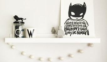 Superhero boys' shelfie