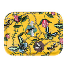 Bugs and Butterflies Yellow Tray, 27 Cm
