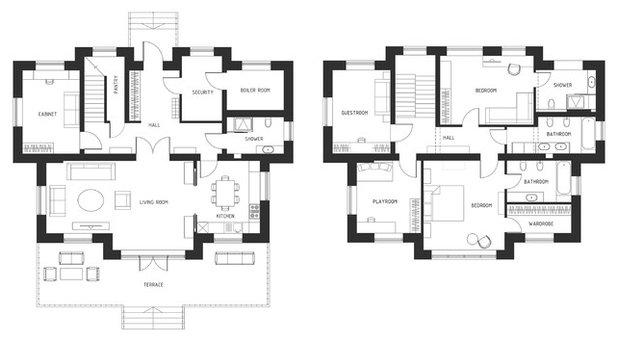 Современный План этажа by Balykov Studio