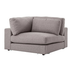 Four Hands Furniture   Bloor Sofa Sectional Piece, Corner, Chess Pewter   Sectional  Sofas