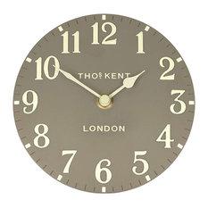 Thomas Kent Arabic Mantel Clock, 15 cm, Taupe