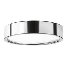 "Progress Lighting Portal 1-Light Flush Mount, Polished Chrome, 13""x2.5"""