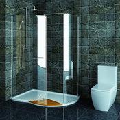 Technik Left Hand Walk-In Shower Enclosure, 1430 x 940mm