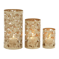 Contemporary Styled Metal Candle Holder, Set of 3