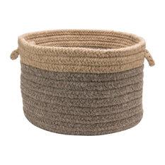 Chunky Nat Wool Dipped Basket - Beige/Nat 14x10