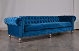 "118"" Chesterfield in Como Cyan"