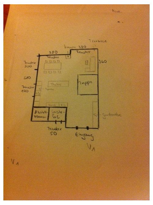 Hilfe Für Anordnung Küche, Wohnzimmer Gesucht
