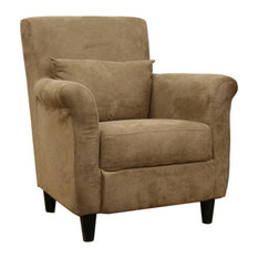 Baxton Studio   Baxton Studio Marquis Tan Microfiber Club Chair   Armchairs  And Accent Chairs