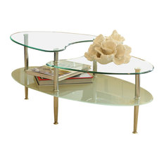 glass-top and oval coffee tables | houzz