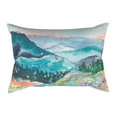 """Decorative Pillow Cover, Valley of Dreams Painting, 12""""x17"""""""