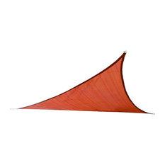 """Cool Area - Cool Area Triangle 9'10"""" UV Block Sun Shade Sail, Terra - Shade Sails"""