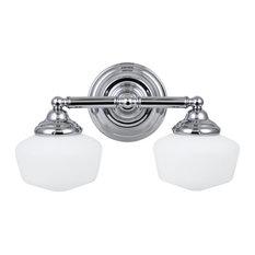 Sea Gull Lighting 44437 Academy 2 Light Bathroom Vanity Light - Chrome