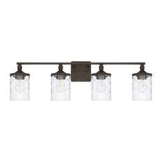 "Capital Lighting 128841-451 Colton 4 Light 34""W Bathroom Vanity - Urban Brown"