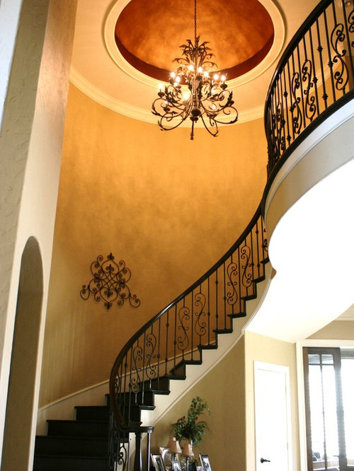 Painted foyer dome ceiling home design ideas, renovations & photos