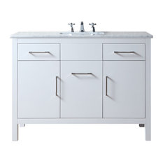 "Stufurhome Atreus 48"" White Single Sink Bathroom Vanity"