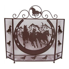 DeLeon Collections Metal Horse Fire Screen