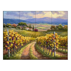 Tile Mural, Vineyard Hill I by Sung Kim