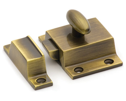 Solid brass cabinet latches
