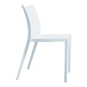 Fine Mod Imports Square Dining Chair, White