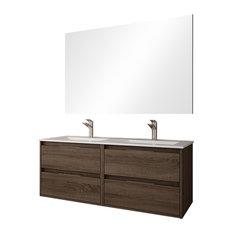 Box 4-Drawer Bathroom Vanity Unit, Britannia Finish, 120 cm