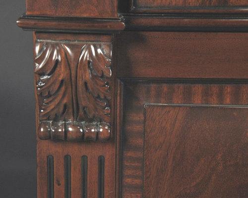 Regency Style Mahogany Four Door China Cabinet (K NDRC 021)