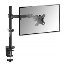 Modern Stylish Monitor Arm Mount, Steel Metal, Swivel and Rotating Design