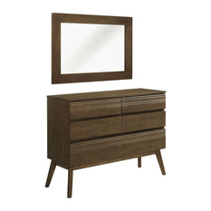 Everly 2-Piece Queen Bedroom Set, Walnut