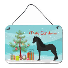 Friesian Horse Christmas Wall or Door Hanging Prints BB9282DS812
