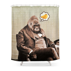 Gorilla My Dreams Shower Curtain