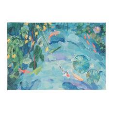 "Liora Manne Illusions Peaceful Pond Indoor/Outdoor Mat, Seafoam, 23""x35"""