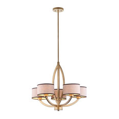 Talia Chandelier in Cream and Antique Gold