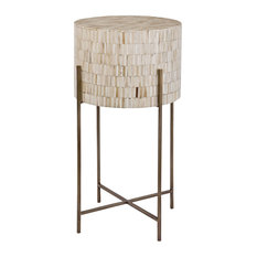 Bone Drum Table (Antique Brass)