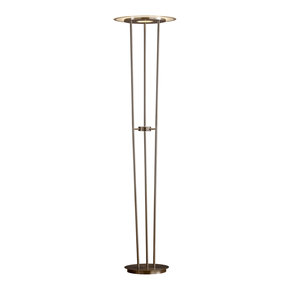"Artiva USA Luciano LED 40W Torchiere Floor Lamp Touch Dimmer, 72"", Satin Nickel"