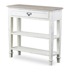 Baxton Studio Dauphine 32-inch Console Table Distressed White And Natural