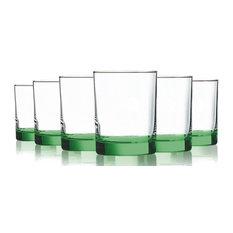 Beverage Aristocrat 14 oz DOF Glassses Set of 6, Bottom L-Green