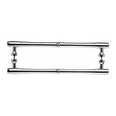 Top Knobs Nouveau Bamboo Back to Back Door Pull 12 Inch C-C Polished Chrome