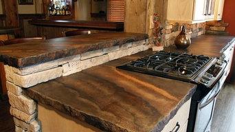 Indoor Concrete Countertops