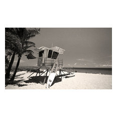 Lifeguard Stand Boca Raton Beach Florida Fine Art Black and White Photography, 2