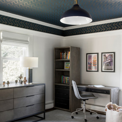 Example of a transitional kids' room design in New York