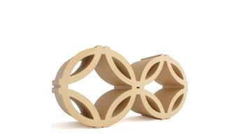 Celosía cerámica circular 14x29x7