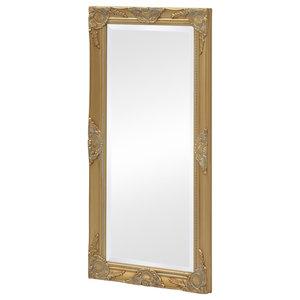 vidaXL Wall Mirror Baroque Style, Gold, 100x50 cm