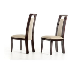 Modrest Douglas Modern Ebony And Taupe Dining Chair Set Of 2