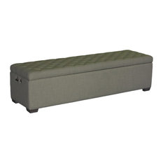 Sand Beige Linen Bench Seat   Benches   Upholstered Benches
