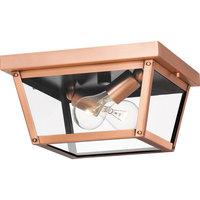 Rue De Royal 2 Light Outdoor Lantern, Aged Copper