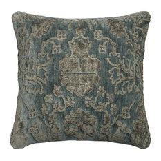 Loloi Transitional Cotton Pillow Cover, Gray and Blue, 22  x22