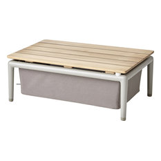 Conic Box Table - Brown, Antique-Line Tex